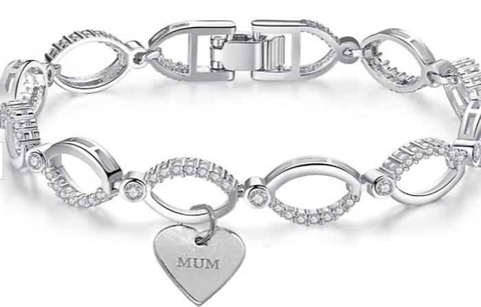 Swarovski Crystal 'Mum' Bracelet + Extra 10% Off