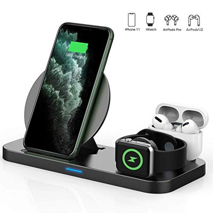 DEAL STACK - 3 in 1 Wireless Charger, Apple Watch & AirPods