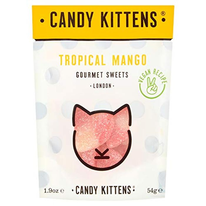 Candy Kittens Vegan Sweets - Natural Candy - Tropical Mango, 54g (Single)