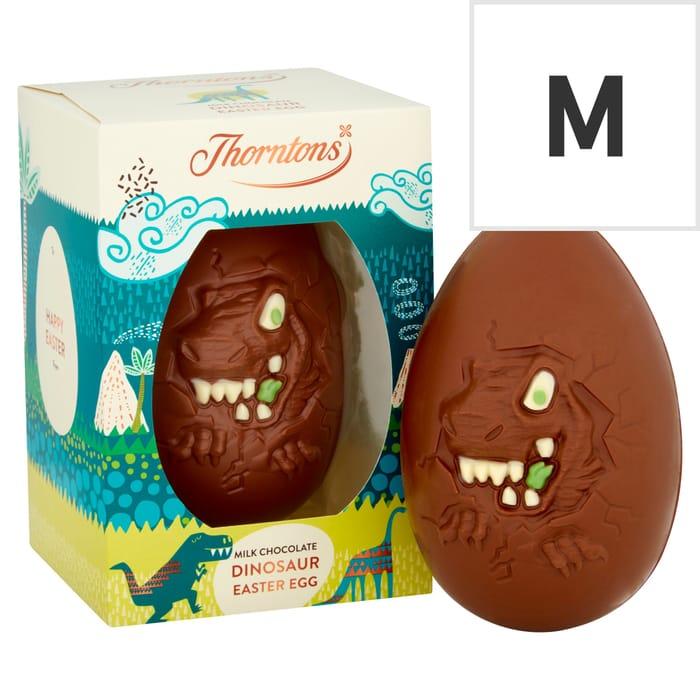Thorntons Milk Chocolate Egg Dinosaur Egg 151g 2 for £5