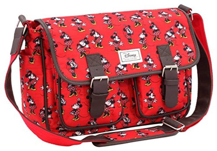 Best Price! Disney Classic Minnie Cheerful Messenger Bag, 34 Cm, Red (Rojo)