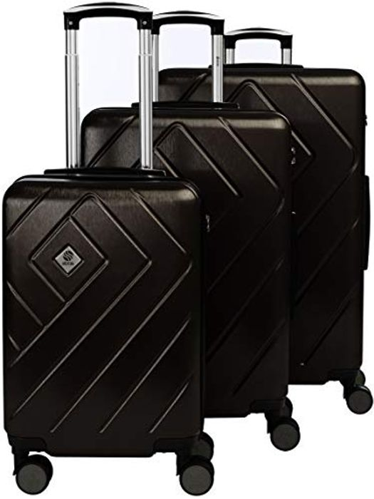 Deal Stack! Lightweight Rolling 3 Piece Luggage Set for £49.45 Only