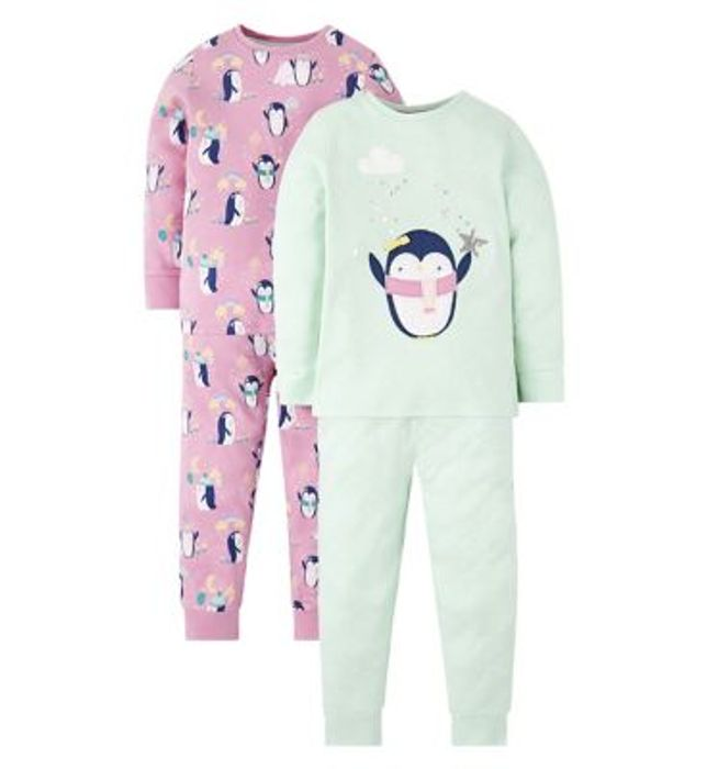 Mini Club 2 Pack Penguin Pyjama Set