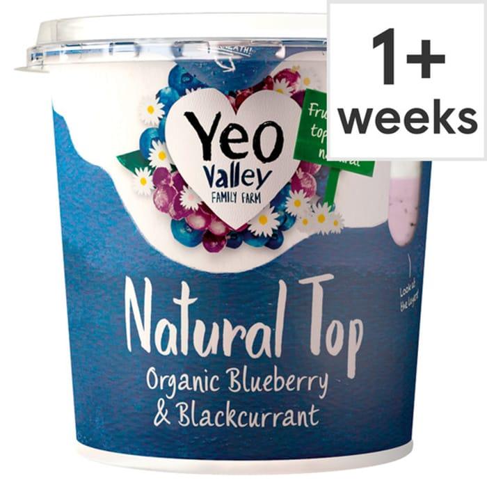 Yeo Valley Natural Top Organic Yogurt 350g - 50p with Tesco Magazine Voucher