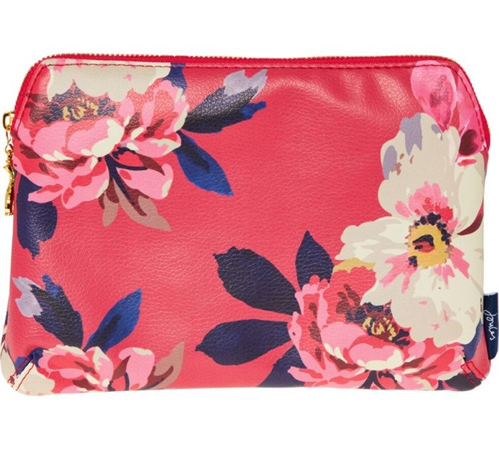 JOULES Pink Floral Pouch BIG 70% Saving