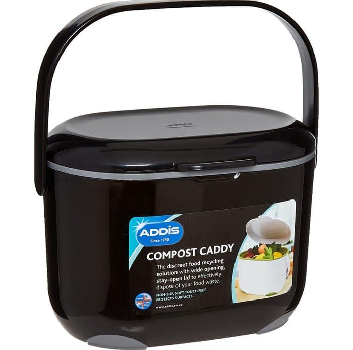 ADDIS Black Compost Caddy 2.5L