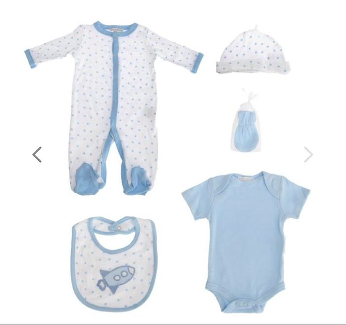 Nursery Time Rocket & Stars 5-Piece Baby Gift Set