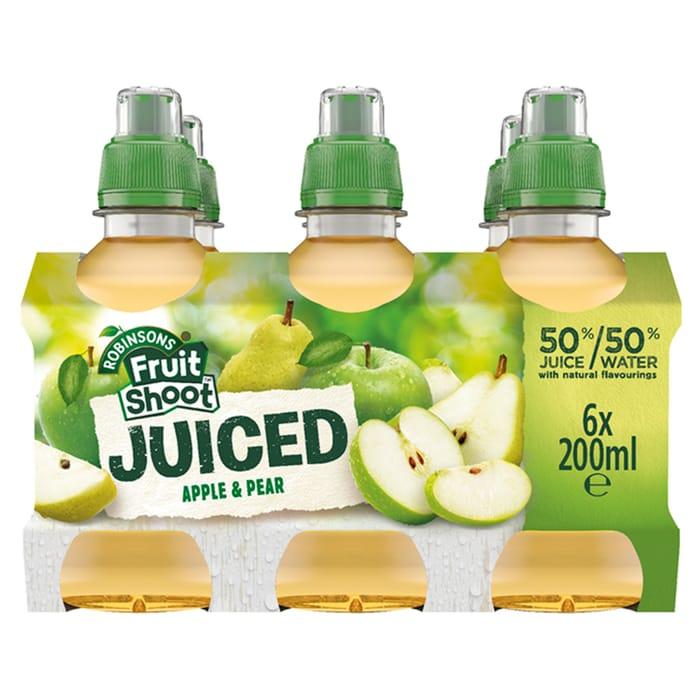 Fruit Shoot Juiced Apple & Pear 6 X 200 Ml