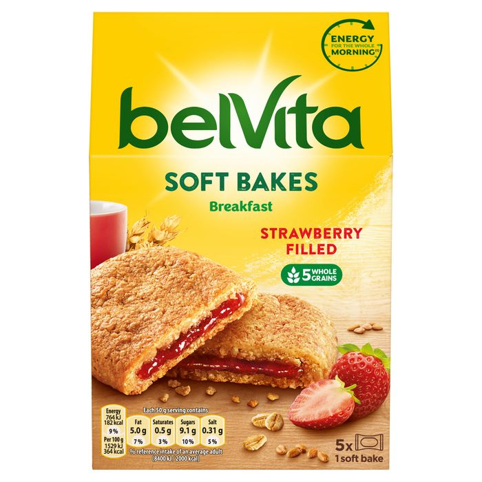 Belvita Soft Filled Strawberry Biscuits&Filled Chocolate Biscuits 250g