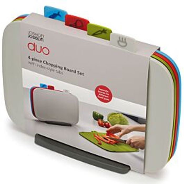 *HALF PRICE Joseph Joseph DUO 4-Piece Chopping Board Set - Multicoloured
