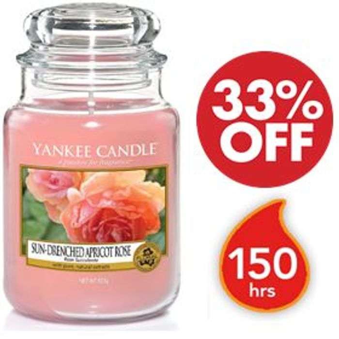 Yankee Candle Large Jar - Sun-Drenched Apricot Rose