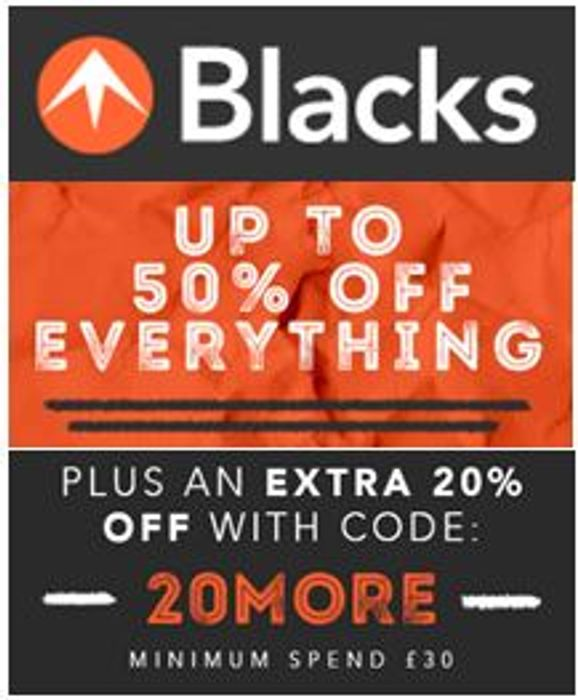 Blacks - 50% off + EXTRA 20% off with Code