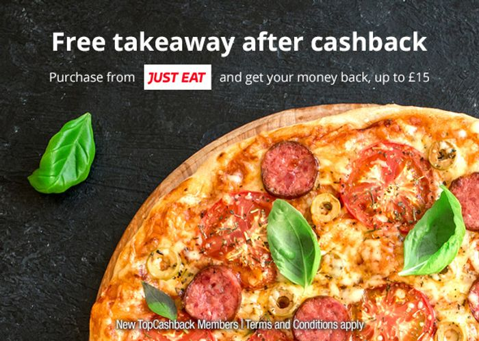 Free Takeaway after Cashback up to £15