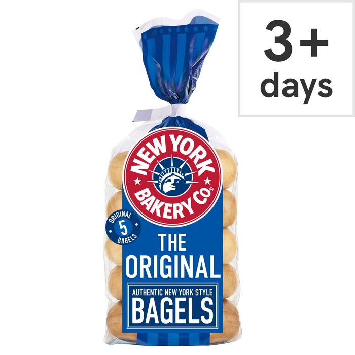 New York Bakery Plain Bagels 5 Pack Was £1.60 Now £1 @Tesco
