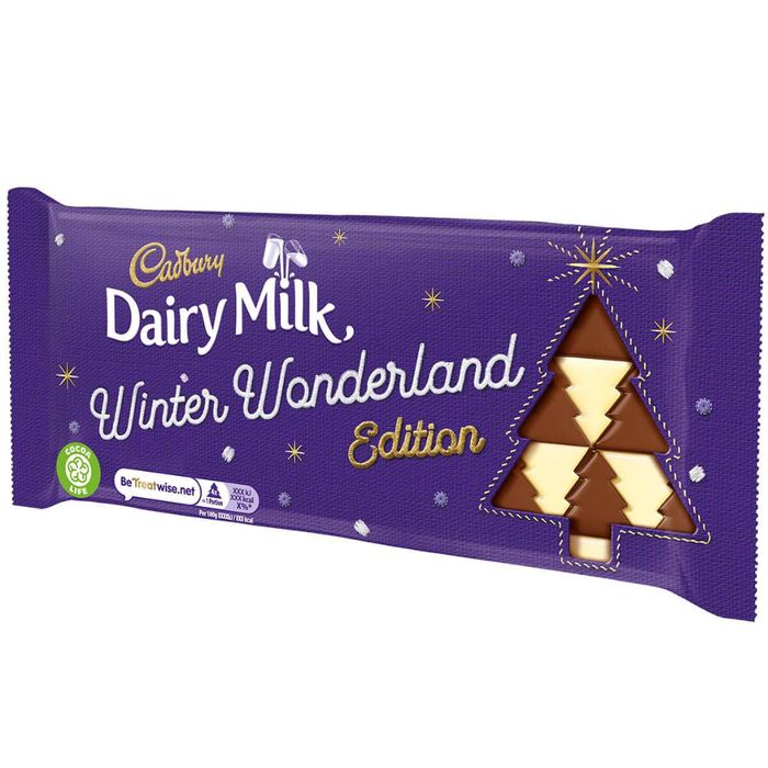 *100g Bar (Box of 20)**dairy Milk Winter Wonderland Edition 100g Bar (Box of 20)