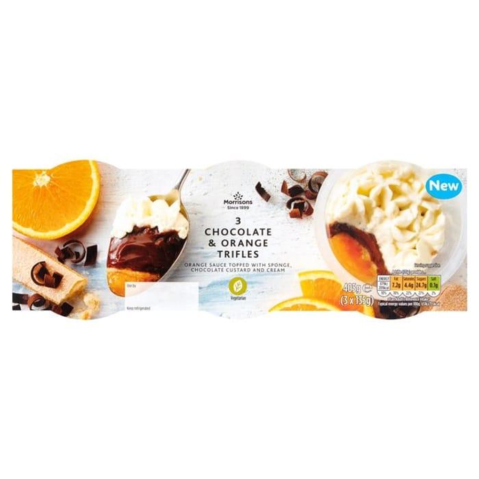 Morrisons Chocolate Orange Trifle 3pk