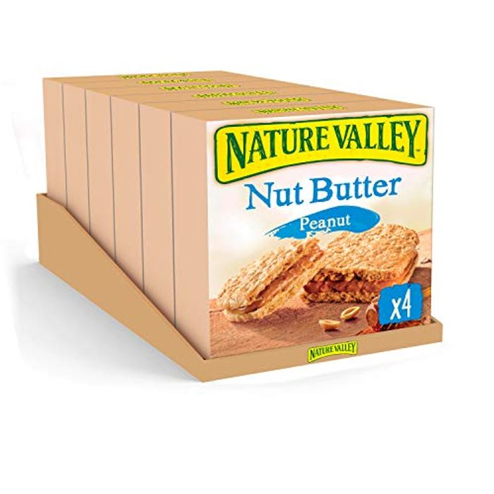 Nature Valley Nut Butter Peanut Biscuit Cereal Bars 38g (Pack of 24 Bars)