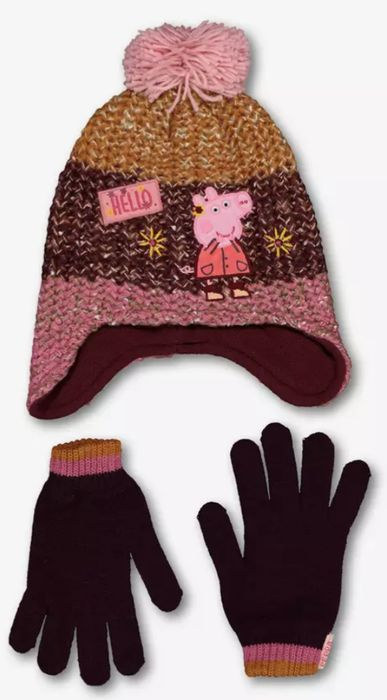 Peppa Pig Multicoloured Hat & Gloves Set - 3-5 Years