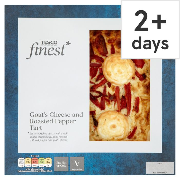 Tesco Finest Goats Cheese and Roasted Pepper Tart save 60p Now £2.50 @Tesco