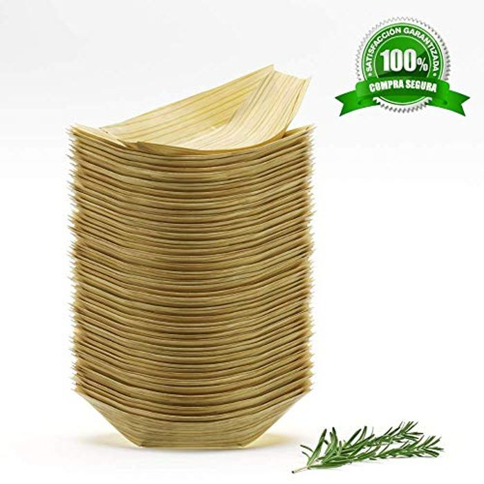 Save 50% on Bamboo Medium Party Plates 50 Pack & 100 Pack