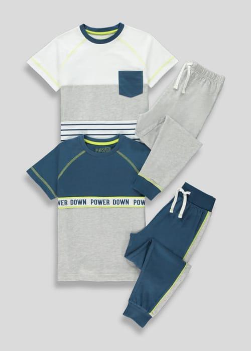 Boys 2 Pack Power down Pyjamas (4-13yrs)