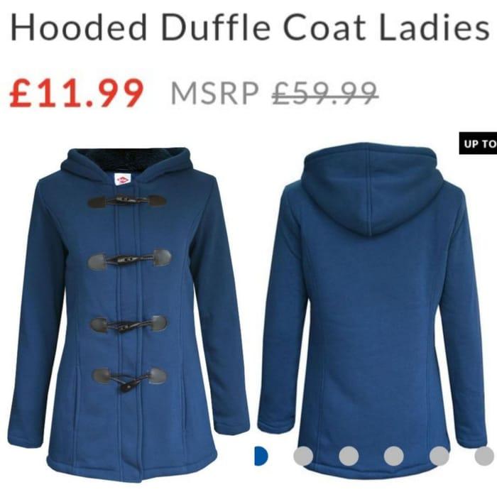 LEE COOPER Hooded Duffle Coat Ladies.
