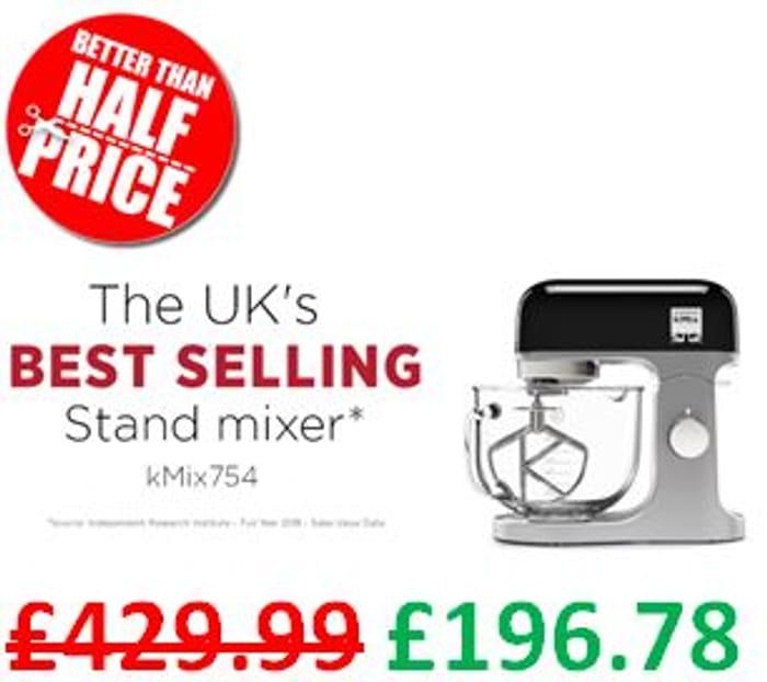 Kenwood kMix Stand Mixer, 1000 W, Black