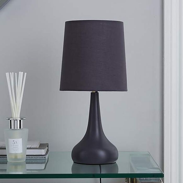 Rimini Grey Touch Lamp