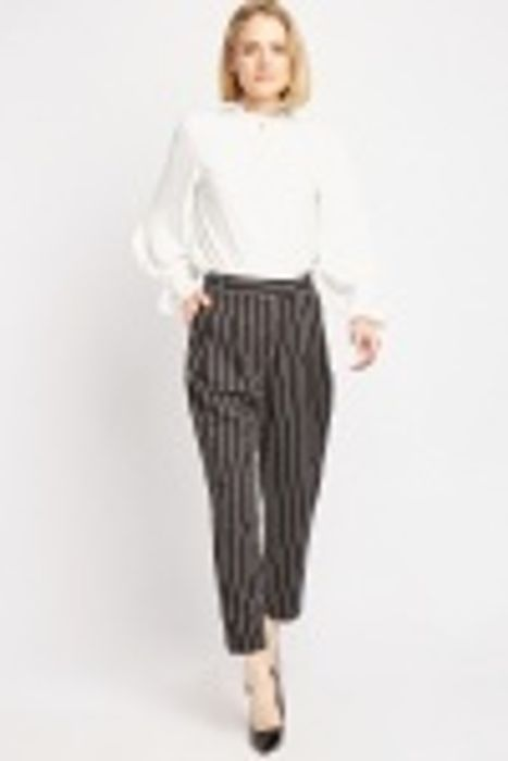 Pin-Stripe Tapered Trousers