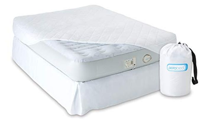 Single Aerobed Airbed Deluxe, with Built-in Electric Pump