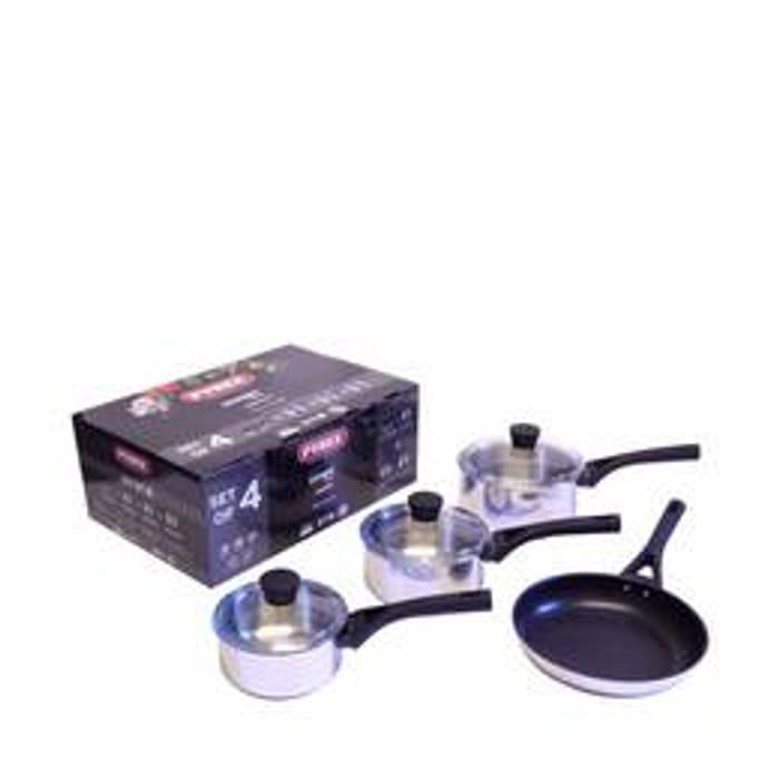 Pyrex - Stainless Steel 4 Piece Pan Set