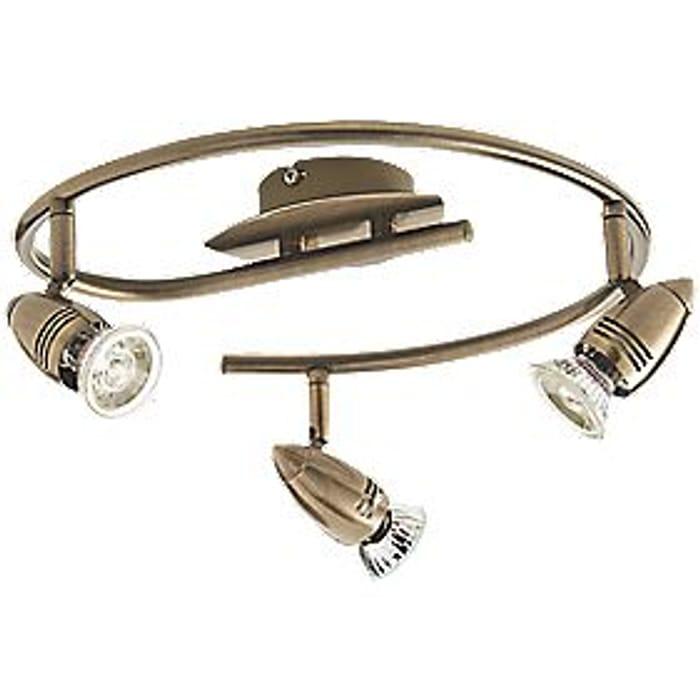 Inseki 3-Light Spotlight Brass