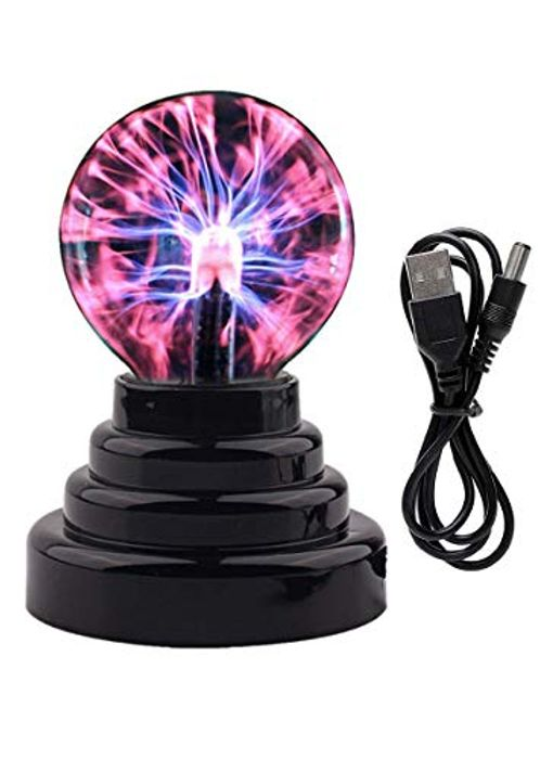 Deal Stack! 3-Inch Magic Plasma Ball Touch-Sensitive Lamp