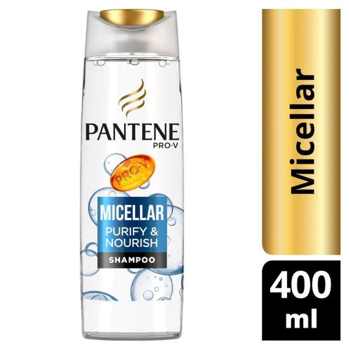 Pantene Pro-v Micellar Cleanse & Nourish Shampoo 400ml for 40p Only