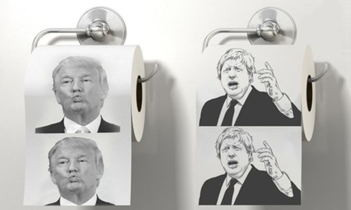 Up to Four Donald Trump or Boris Johnson Novelty Toilet Paper Rolls