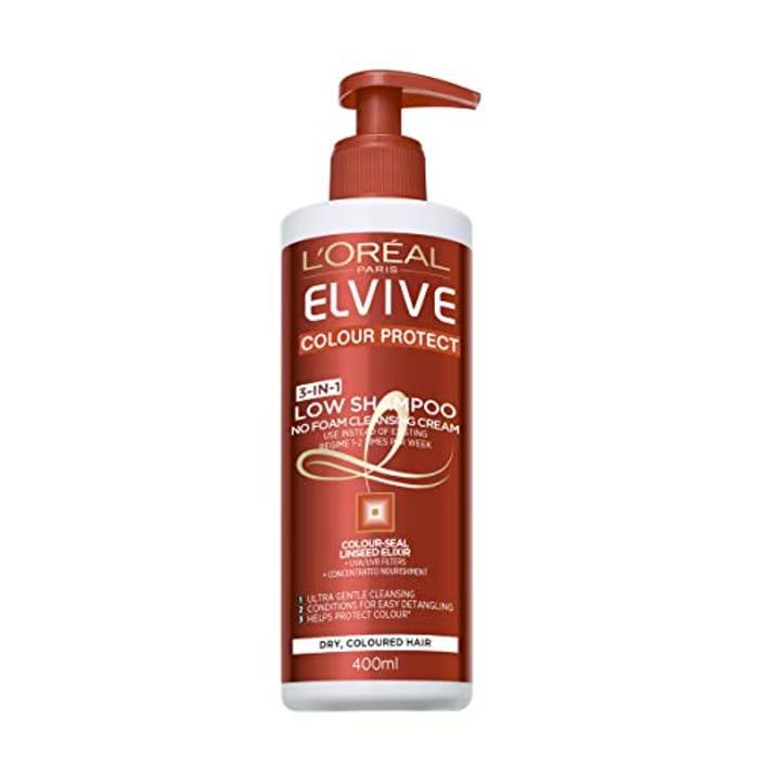 Half Price- L'Oreal Paris Elvive Colour Protect Low Shampoo 400ml