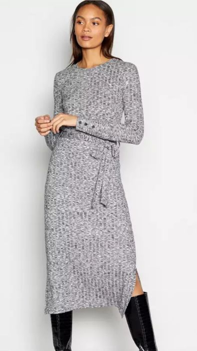 Principles Ribbed Knit Midi Dress