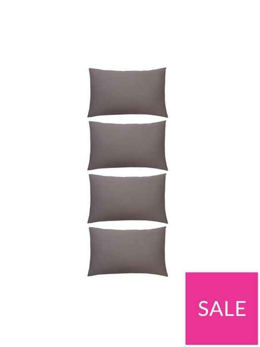 144 Thread Count Standard Pillowcases - Pack of 4