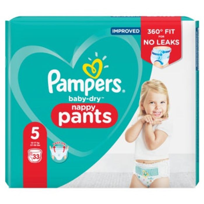 Pampers Baby-Dry Size 5 Nappy Pants Essential Pack