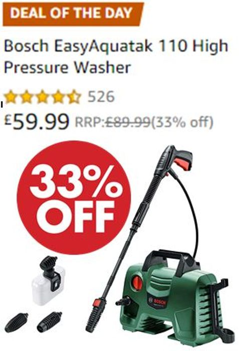 Amazon Deal of the Day - Bosch EasyAquatak 110 High Pressure Washer