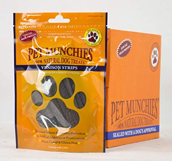 Venison Strips Dog Treats (8 Packs)