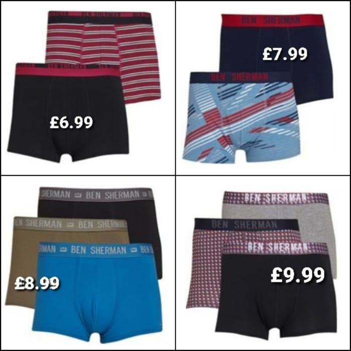 Mens Ben Sherman Underwear at Great Prices