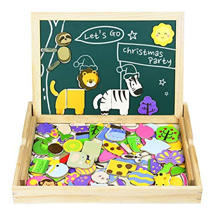 Save £10- Magnetic Jigsaw Building Puzzle Board for Kids
