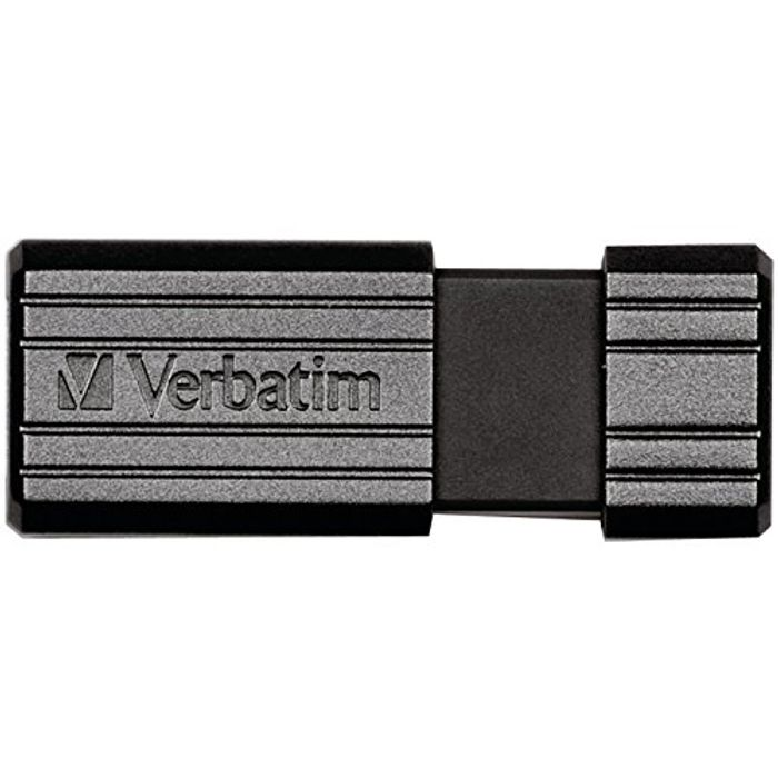 Verbatim 49071 128GB Pinstripe USB 2.0 Flash Drive - Black