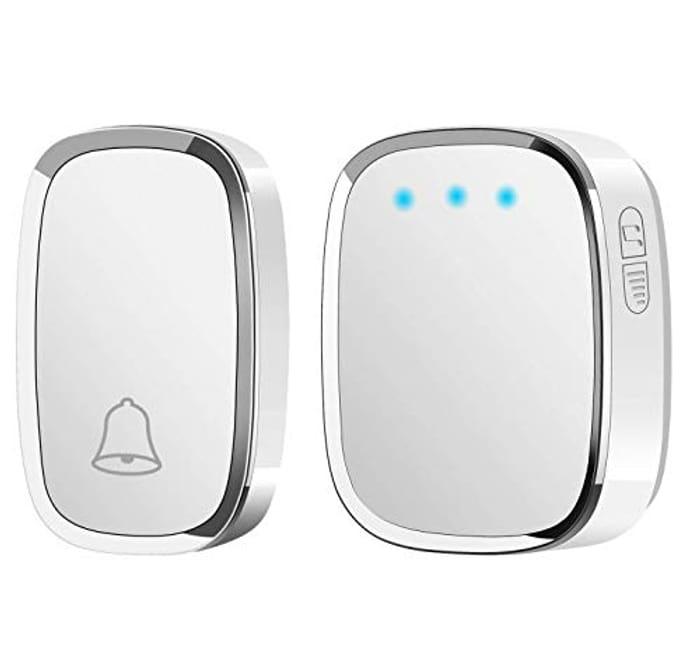 Wireless Doorbell, Waterproof Door Bell, Wall Plug-in Cordless Chime