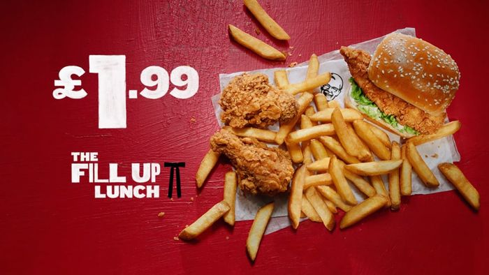 Cheap KFC Fill up Lunch is Back (Only £1.99)