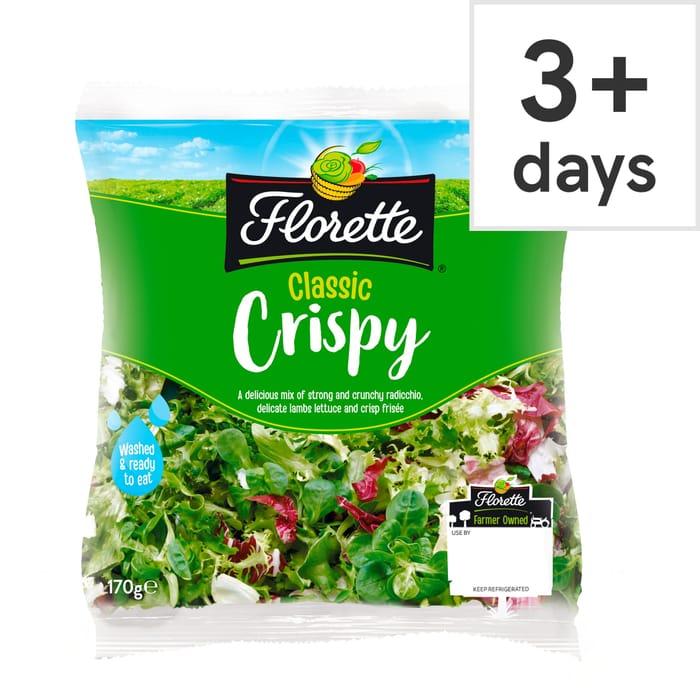 Florette Classic Crispy Salad 170G save 50p Now £1 @Tesco