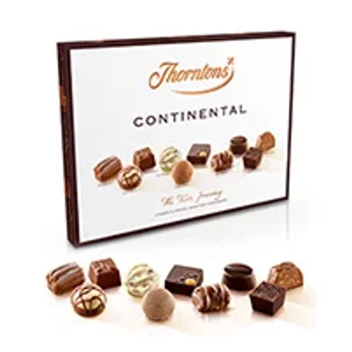 Free Continental Chocolate Gift Collection Box with Orders over £20 at Thorntons