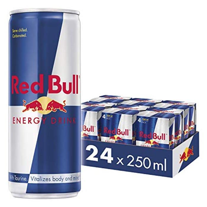 Red Bull Energy Drink 24 Pack of 250 Ml (6 Packs of 4)