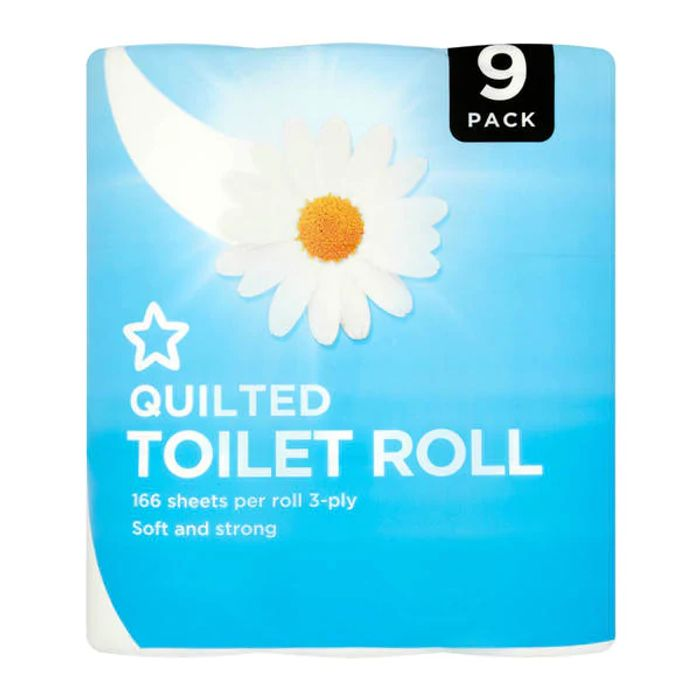 Superdrug Toilet Roll 3 Ply X 9